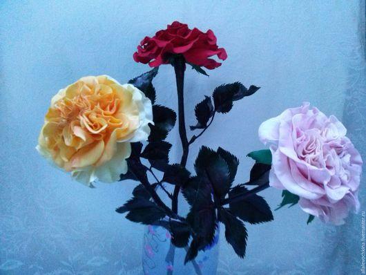 Цветы ручной работы. Ярмарка Мастеров - ручная работа. Купить Пионовидные розы сорта Миранда. Handmade. Бледно-розовый, клей