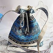 Сумки и аксессуары handmade. Livemaster - original item Slavic handbag Rechenka on a long strap. Handmade.