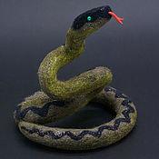 Статуэтки ручной работы. Ярмарка Мастеров - ручная работа Статуэтки: Змея. Handmade.