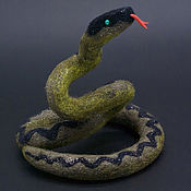 Для дома и интерьера handmade. Livemaster - original item Figurines: Snake. Handmade.