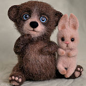 Куклы и игрушки handmade. Livemaster - original item Bear and Bunny felted toy. Handmade.