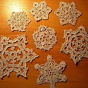 Для дома и интерьера ручной работы. Ярмарка Мастеров - ручная работа Снежинки (набор). Handmade.