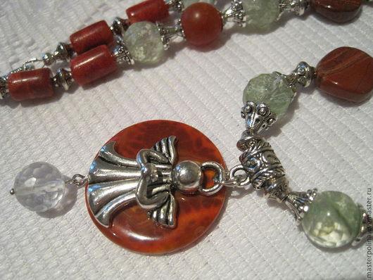 """Колье, бусы ручной работы. Ярмарка Мастеров - ручная работа. Купить Колье """"Молитва ангела"""". Handmade. Рыжий, молитва"""