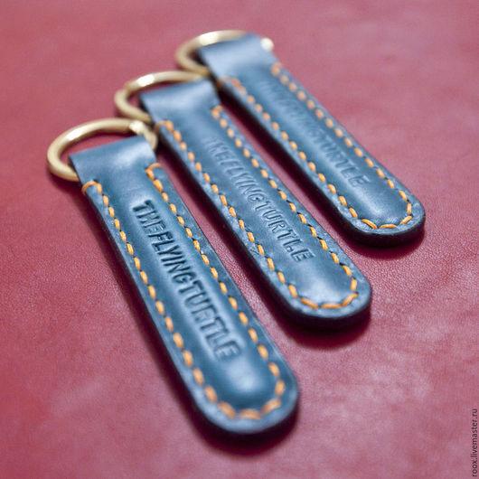 Кошельки и визитницы ручной работы. Ярмарка Мастеров - ручная работа. Купить Брелок для ключей из кожи Horween. Handmade. Ключ, брелоки