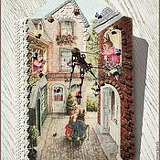 """Для дома и интерьера ручной работы. Ярмарка Мастеров - ручная работа Часы в детскую """"Сказочный город"""". Handmade."""