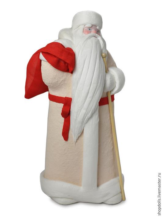 Коллекционные куклы ручной работы. Ярмарка Мастеров - ручная работа. Купить Кукла Дед Мороз из ваты. Handmade. Бежевый, подарок