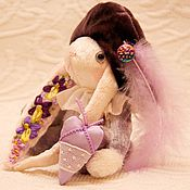"""Куклы и игрушки ручной работы. Ярмарка Мастеров - ручная работа Зайка паж """"Фиалки и незабудки"""". Handmade."""