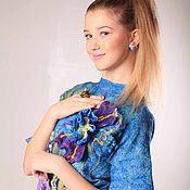 """Одежда ручной работы. Ярмарка Мастеров - ручная работа детское и подростковое платье валяное """"blue bloom"""". Handmade."""