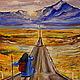 Люди, ручной работы. Заказать картина Путешественница. Юлия-Yulitaya. Ярмарка Мастеров. Путь, горы