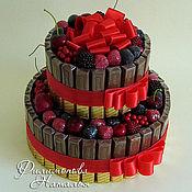 """Цветы и флористика ручной работы. Ярмарка Мастеров - ручная работа Торт """"Ягодный"""" конфетный. Handmade."""