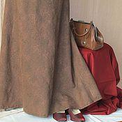 Одежда ручной работы. Ярмарка Мастеров - ручная работа Длинная юбка цвета сепии. Handmade.