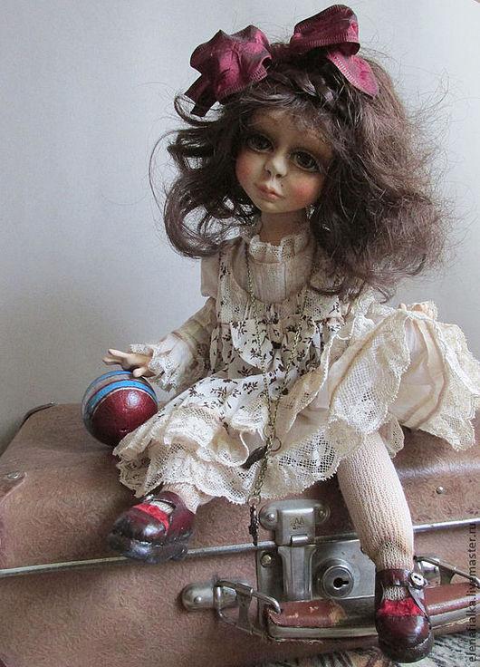Коллекционные куклы ручной работы. Ярмарка Мастеров - ручная работа. Купить Танечка. Handmade. Коричневый, подарок на любой случай