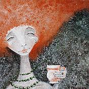 Картины и панно ручной работы. Ярмарка Мастеров - ручная работа Чай с корицей (репродукция). Handmade.