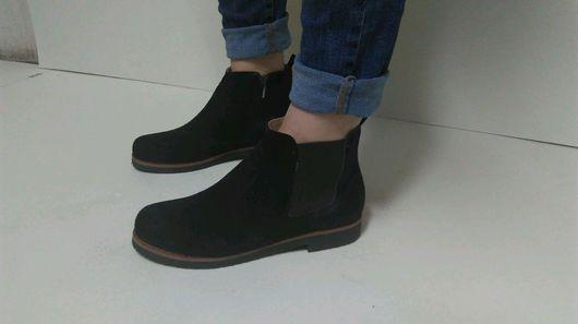 Обувь ручной работы. Ярмарка Мастеров - ручная работа. Купить Женские ботинки. Handmade. Женские туфли, натуральные материалы, байка