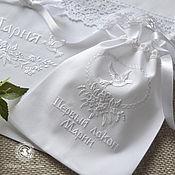 Работы для детей, handmade. Livemaster - original item Pouch with embroidery. Handmade.