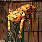 """Куклы и игрушки ручной работы. Ярмарка Мастеров - ручная работа Игрушка-подушка """"Радужный кот"""" сочный цитрус. Handmade."""