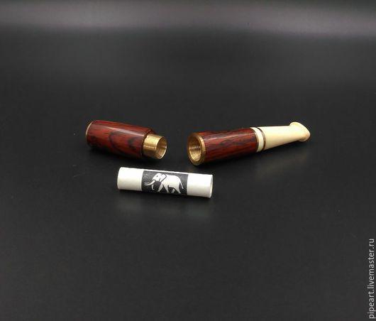 Подарки для мужчин, ручной работы. Ярмарка Мастеров - ручная работа. Купить Мундштук 1-71 Кокоболо. Handmade. Коричневый, латунь