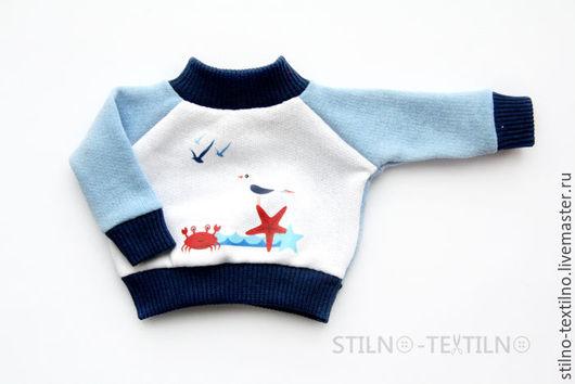 """Одежда для кукол ручной работы. Ярмарка Мастеров - ручная работа. Купить Свитшот для куклы """"Морской стиль"""" Чайка. Handmade."""