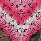 Аксессуары handmade. Livemaster - original item Shawl roses in the snow openwork knit mineral of fishy kit. Handmade.