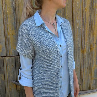 Clothing handmade. Livemaster - original item Voluminous knitted vest with lurex and micropalama. Handmade.