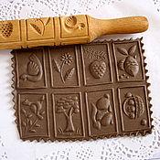 Для дома и интерьера handmade. Livemaster - original item Rolling pin for printed cookies wood carving. Handmade.