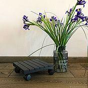 Цветы и флористика handmade. Livemaster - original item Stand for flowers on wheels. Handmade.