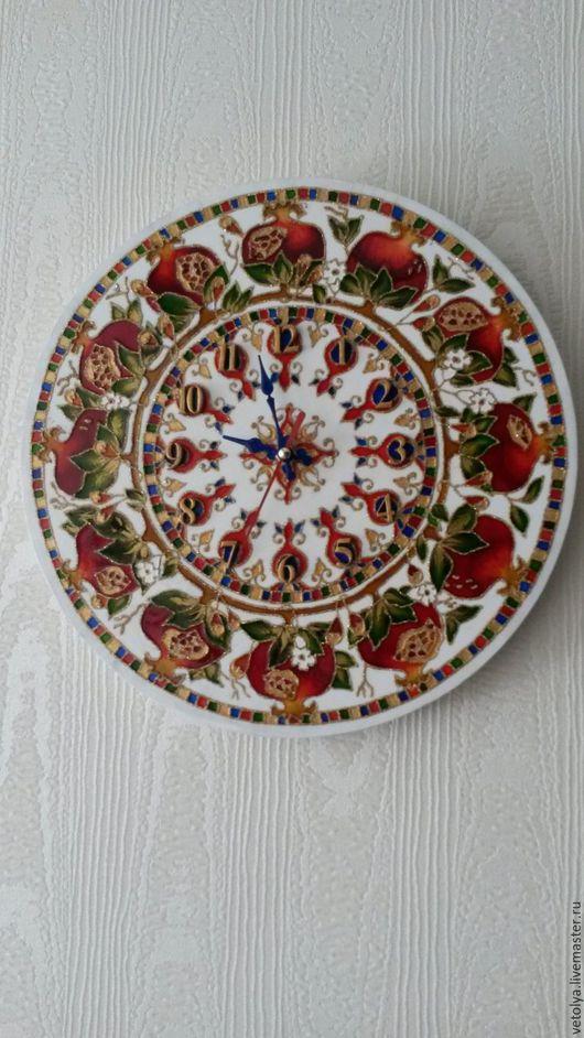 """Часы для дома ручной работы. Ярмарка Мастеров - ручная работа. Купить Часы """"Гранат"""". Handmade. Комбинированный, часы"""