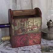 """Для дома и интерьера ручной работы. Ярмарка Мастеров - ручная работа Короб для вина """"Винный"""". Handmade."""