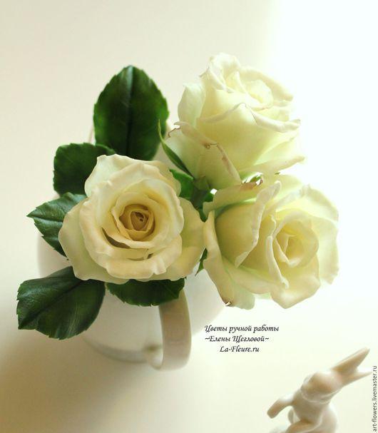 Цветы ручной работы. Ярмарка Мастеров - ручная работа. Купить Розы. Handmade. Розы ручной работы, реалистичная флористика