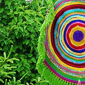 """Для дома и интерьера ручной работы. Ярмарка Мастеров - ручная работа Коврик круглый """"Просто очень красивый"""". Handmade."""