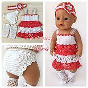 Одежда для кукол ручной работы. Ярмарка Мастеров - ручная работа Комплект для куклы baby born с сарафаном. Handmade.