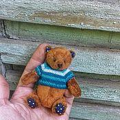 Мягкие игрушки ручной работы. Ярмарка Мастеров - ручная работа Рыжий мишка Бублик. Handmade.