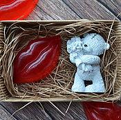 Косметика ручной работы. Ярмарка Мастеров - ручная работа Набор мыла Тедди и губки. Handmade.