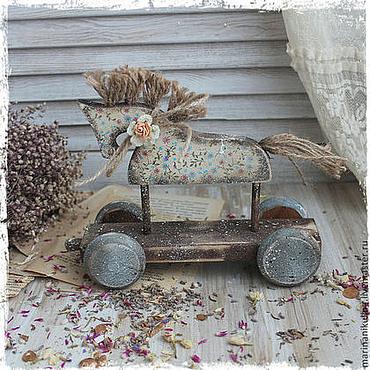 """Подарки к праздникам ручной работы. Ярмарка Мастеров - ручная работа """"Прованский ветерок"""" лошадка. Handmade."""