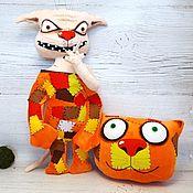 Куклы и игрушки handmade. Livemaster - original item The work is such - emotion.! Soft toy cat Vasya Lozhkina. Handmade.