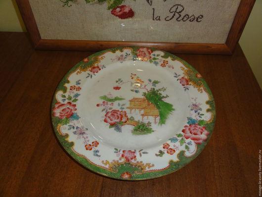 Винтажная посуда. Ярмарка Мастеров - ручная работа. Купить Антикварная большая тарелка Royal Doulton 1900 -1910 г. Handmade.