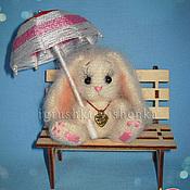 Куклы и игрушки ручной работы. Ярмарка Мастеров - ручная работа Зайчонок Лапочка с зонтиком. Handmade.