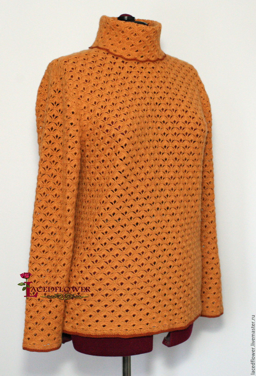 BIG SIZE!Cashmere sweater. Autumn gold, Sweaters, Permian,  Фото №1