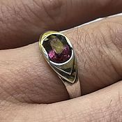 Украшения handmade. Livemaster - original item Men`s Silver Ring with Purple Sapphire (2,19 ct) handmade. Handmade.