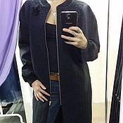 Одежда handmade. Livemaster - original item Longline bomber coat. Handmade.