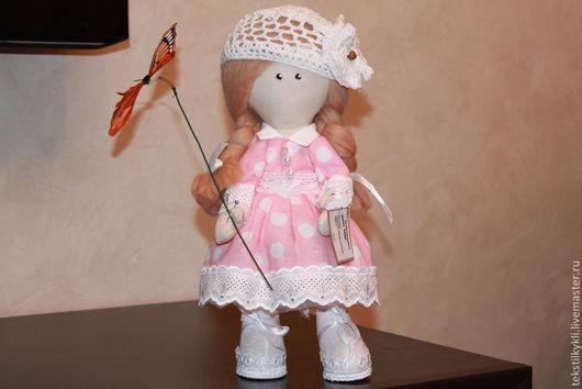 Куклы тыквоголовки ручной работы. Ярмарка Мастеров - ручная работа. Купить кукла Соня. Handmade. Розовый, соня с бабочкой