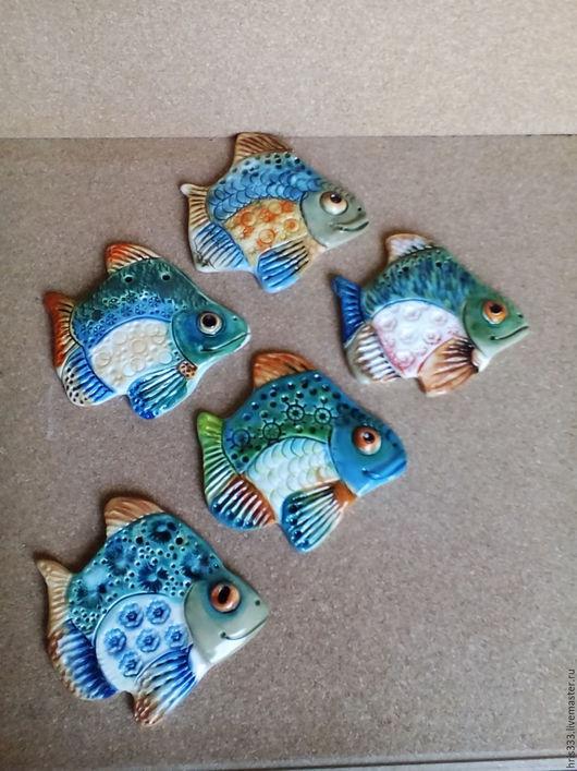 Декор поверхностей ручной работы. Ярмарка Мастеров - ручная работа. Купить Рыбка панно керамика №8,5. Handmade. Рыбка