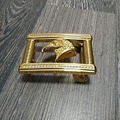 Материалы для творчества handmade. Livemaster - original item Yellow metal buckle for belts 3.8 cm wide.. Handmade.
