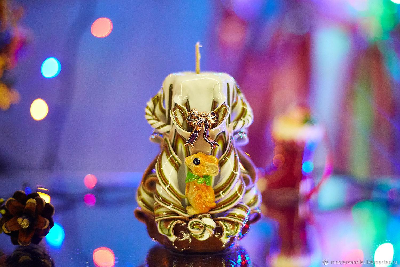 Резная свеча. Новый Год. Рождество. Символ года. 2020, Свечи, Москва,  Фото №1