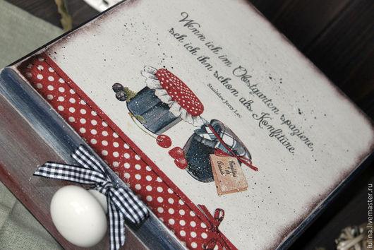 """Кухня ручной работы. Ярмарка Мастеров - ручная работа. Купить Короб для чая """"Konfitur"""". Handmade. Короб для чая, шкатулка для чая"""