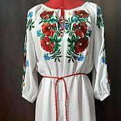 Одежда handmade. Livemaster - original item F Women`s embroidered dress ЖП1-86. Handmade.