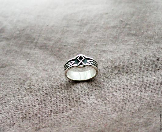 """Украшения для мужчин, ручной работы. Ярмарка Мастеров - ручная работа. Купить кольцо """"Руна Отал"""". Handmade. Руна отал, оталия"""
