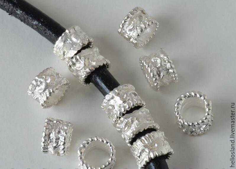 Бусины винтажные для круглых шнуров 5 мм, Бусины, Москва, Фото №1