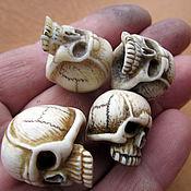 Украшения handmade. Livemaster - original item Skull Beads, Skull Cord Beads for Cord. Handmade.