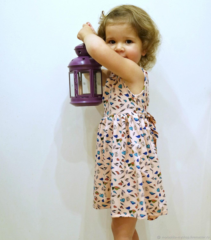 Платье детское Листики